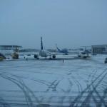 Schnee in St. Petersburg